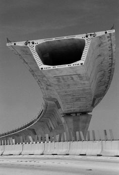 This cantilevered section of posttensioned bridge challenges the nature ,crossing great spans  via structural engineering