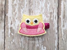 Sleeping Beauty Owl Hair Clip Princess Owl by PunkyPunkinCreations