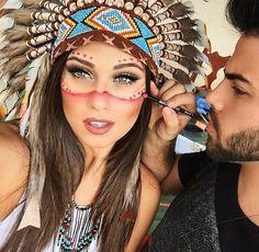 Bildergebnis für indianer schminken