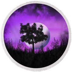 Witch Moon round beach towel by Tracey Lee Art Designs All Design, Beach Towel, Towels, Witch, Moon, Traditional, Outdoor, Art, The Moon