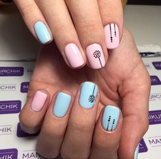 There are three kinds of fake nails which all come from the family of plastics. Acrylic nails are a liquid and powder mix. They are mixed in front of you and then they are brushed onto your nails and shaped. These nails are air dried. Short Nail Designs, Nail Designs Spring, Cute Simple Nail Designs, Toe Nail Designs Easy, Nail Designs Summer Easy, Nail Design For Short Nails, Nail Art Ideas For Summer, Creative Nail Designs, Summer Ideas