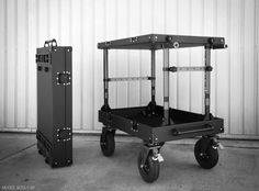 Inovativ Scout – Not Your Father's Production Cart! Studio Equipment, Studio Gear, Studio Setup, Video Studio, Film Studio, Module Design, Ideas Para Organizar, Studio Organization, Lighting Setups