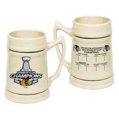 CHICAGO BLACKHAWKS NATURAL 2015 STANLEY CUP CHAMPIONS 24OZ. CERAMIC STEIN