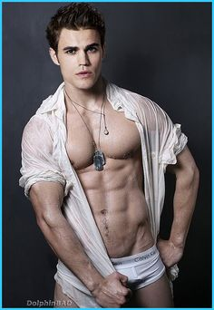 Paul Wesley - I did not realize what was under all those dark shirts he wears!!  More shirtless time please!
