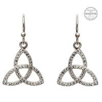 Shanore Trinity knot Earring Embellished With Swarovski Crystals
