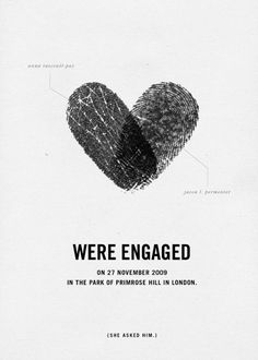 Cool engagement announcement