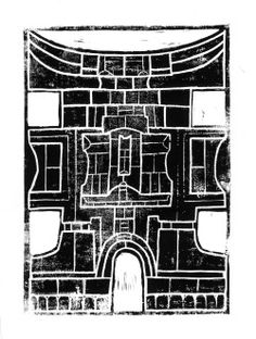 LinogravureFévrier 2014Victor Marqué Abstract Drawings, Houses, Artist, Painting, Dibujo, Homes, Artists, Painting Art, Paintings