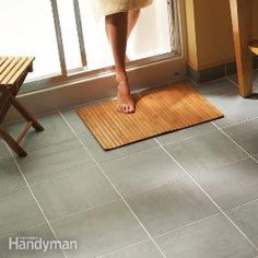 Give your old, worm out vinyl floor a new look with elegant tile. We'll show you how to save hundreds of dollars by installing the floor yourself. Even if you don't have any tile experience, you can tile your bathroom floor in a weekend and end up with a great looking, durable floor.