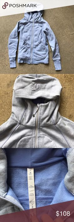 Lululemon lavender scuba hoodie *not included in closet wide sales* reasonable offers only, I do not and will not trade. This is a worn and washed once scuba hoodie with thumb holes. Purchased last spring and needs a new home. Location H lululemon athletica Tops Sweatshirts & Hoodies