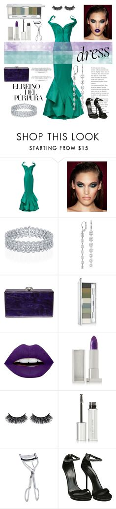 """""""Off the Shoulder Dress 💐"""" by pelinakayy ❤ liked on Polyvore featuring Zac Posen, Charlotte Tilbury, Blue Nile, Edie Parker, Clinique, LunatiCK Cosmetic Labs, Lipstick Queen, Battington, Givenchy and BBrowBar"""