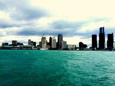 Gorgeous but windy day on the Detroit River,