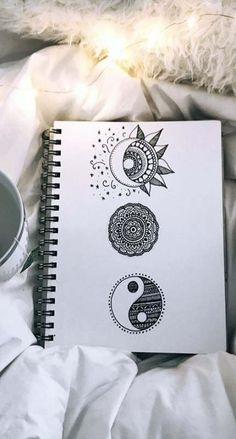 62 ideas zentangle art dibujos mandalas for 2019 Mandala Doodle, Mandala Art Lesson, Doodle Art Drawing, Zentangle Drawings, Pencil Art Drawings, Cool Art Drawings, Art Drawings Sketches, Mandala Tattoo, Cute Drawings Tumblr