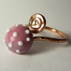 Handmade Silver and Copper Ring Blanks for Lampwork Cabachons
