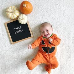 The Poet Oak When your realize it's t-minus eight days until candy is coming. (featuring our Poet Oak) : Halloween Baby Pictures, Photo Halloween, Baby First Halloween, Diy Halloween, Baby Halloween Costumes For Girls, Toddler Halloween, Babies First Christmas, Fall Baby Pictures, Baby Pumpkin Pictures
