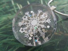 Peaceful Snowfall-Queen Anne's Lace Silver by giftforallseasons