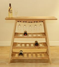 Beautiful wine storage and serving table design.