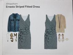 Love this dress! Great transitional piece. 41Hawthorn Ernesto Striped Fitted Dress