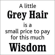 ~A little Grey Hair is a small price to pay for this much Wisdom~