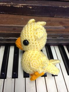 Chocobo Final Fantasy crochet amigurumi plush toy