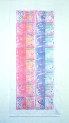 Joan Truckenbrod computer images with heat transfer color xerography on fiber
