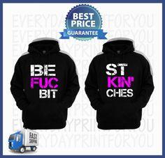 Best fuckin bitches sweaters-best friends Sweaters-Bff sweaters-BFF pullover-Blonde Best Friend-Brunette Best Friend-BFF sweatshirt