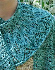 Ravelry: Kudzu Shawl pattern by Rachel Henry - FREE pattern blue lace leafy shawl (hva)