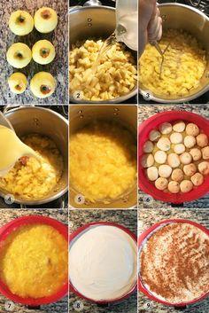 Nepečený dort jablečný piškotový - foto postup Cooking, Fall, Kitchen, Autumn, Fall Season, Brewing, Cuisine, Cook
