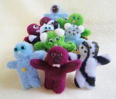 Mini Monster Dolls - Handmade Toys - Stuffed Animals. $5. Handmade cloth dolls for kids