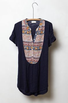 Addie Bibbed Henley - Anthropologie.com