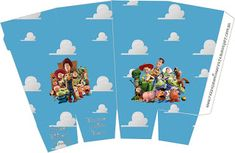 Toy Story 3 - Full Kit with frames for invitations, labels for snacks, souvenirs and pictures! Toy Story 3, Toy Story Party, Cumple Toy Story, Festa Toy Story, Party Printables, Free Printables, Pop Corn, Printable Box, Anime Reviews