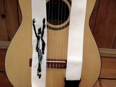 Custom: ''Michael'' Hand Embroidered  Guitar Strap.$50.00