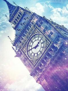 in this pic big ben looks magic . did u know big ben is actualy just the name of a bell inside the tower. the tower itself is called Elizibeth tower.