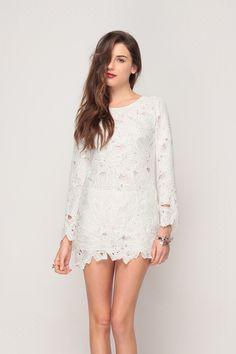 Petal Applique Shift Dress // Storets.com // #STORETS #MiniDress