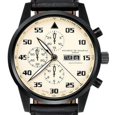 MAURICE DE MAURIAC // SWISS WATCHES // CHRONOGRAPH MODERN -X 12 X-