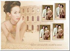 Edit Your Photos: Glamour wedding template for digital album PSD