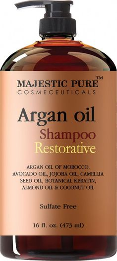 Argan Oil Shampoo from Majestic Pure Offers Vitamin Enriched Gentle Hair Restoration Formula for Daily Use Sulfate Free Moroccan Oil Potent Natural Ingredients for Men and Women 16 fl oz * Find out more details by clicking the image : Best Skin Care Lines Natural Hair Care, Natural Hair Styles, Natural Beauty, Natural Life, Argan Shampoo, Drugstore Shampoo, Pure Argan Oil, Jojoba Oil, Hair Loss Shampoo