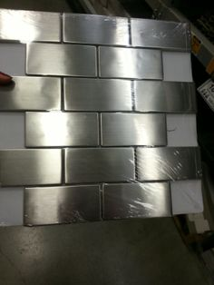 Stainless steel back splash from Lowe's