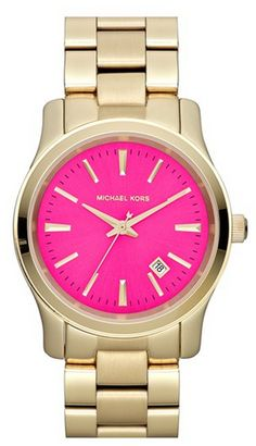 MICHAEL KORS Gold & Pink Watch