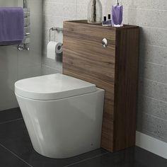 Walnut Effect Slimline Back To Wall Toilet Unit - Lyon Pan [PT-POR202] - £299.99 : Platinum Taps & Bathrooms