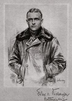 Nice sketch of Manfred v Richtofen