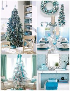 Blue and Green Christmas Decor . 24 Best Of Blue and Green Christmas Decor . Try something New Icy Blue Christmas theme Betterdecoratingbiblebetterdecoratingbible Turquoise Christmas, Blue Christmas Decor, Gold Christmas Decorations, Christmas Tree Themes, Silver Christmas, Christmas Holidays, Coastal Christmas, Christmas Lanterns, Magical Christmas