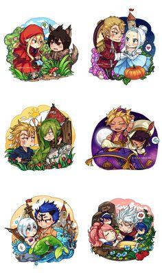 Fairy Tail x Fairy Tales (minor pairings) by blanania on DeviantArt. I ship StingxYukino and MuraxLaxys, but thus is still cute.