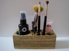 Natural Rustic Mahogany Wood Desk Organizer by TimberWoodsWares, $32.00