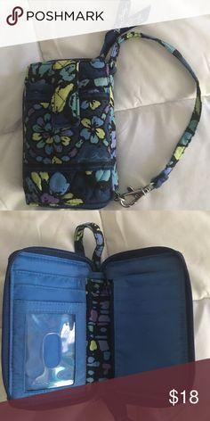 Vera Bradley wallet Fabric wallet, zip shut, outside phone pocket, coin pocket, card slots and dl window Vera Bradley Bags Wallets