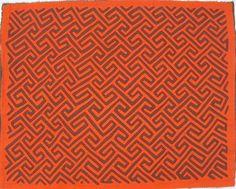 geometric lines mola fabric pattern