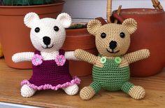 Gorgeous bears  Free pattern  Ravelry: Teddy bear couple Berta & Bruno pattern by Kerstin Batz