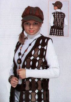 Point Lace, Leather And Lace, Crochet Clothes, Fashion Bags, Winter Hats, Patchwork, Vest, Headbands, Fashion Design