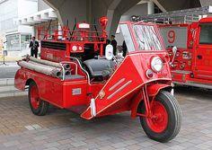 昭和に活躍した3輪消防ポンプ自動車。このほど福島県…:世界の消防車 写真特集:時事ドットコム