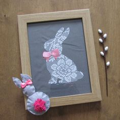 Wielkanocne obrazki #wielkanoc #easter #wielkanocneozdoby #inspiracje #diy #koronka #lace #krolik #zajac #jajko #egg #rabbit #eastereggs #komodapomyslow #easteridea