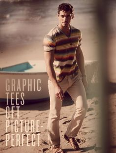 David Gandy by Guy Aroch for Lucky Brand Spring/Summer 2012 Catalogue